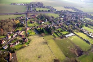 The bird's eye view of our village
